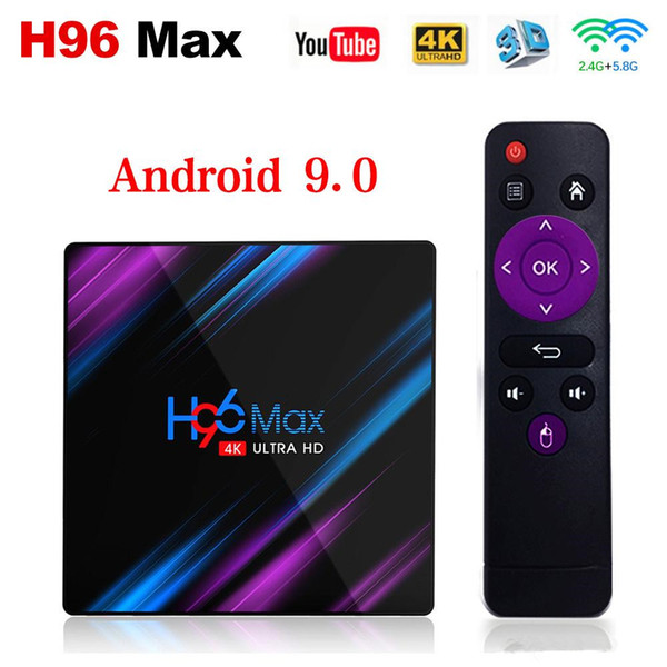 top popular H96 MAX RK3318 9.0 Android TV Box 4GB RAM 64GB 32GB H.265 Media player 4K Google Voice Assistant Netflix Youtube H96MAX 2GB16GB 2019