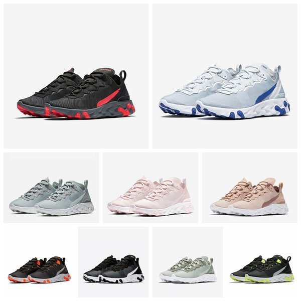 Epic React Element 55 Men Running Shoes For Women Designer PALE PINK Sneakers Sports Mens Trainer Sail Light Bone Sneakers 36-45