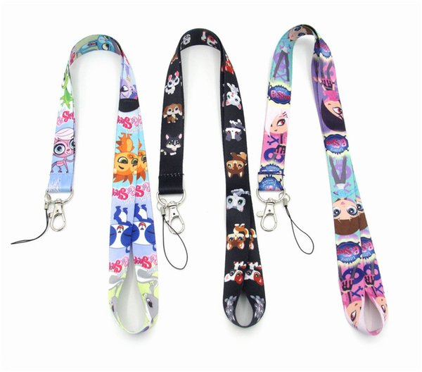 Smaller Pet shop lanyard key lanyards id badge holder keychain straps for mobile phone Fast DHL Shipping