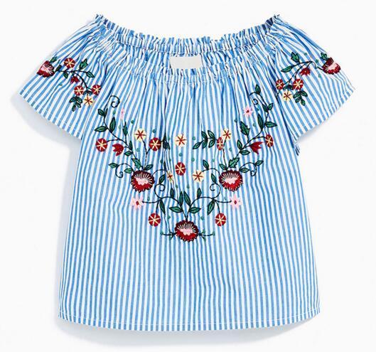 vêtements de marque pour enfants filles shirt à manches courtes à manches longues et à col rond Blouse d'été enfants causal 100% coton à carreaux décontractés fille causal Top 2 couleurs