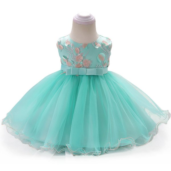 Infant 2018 Summer Princess For Girls 1 Year Birthday Baby Christening Party Dress Newborn Clothes J190619
