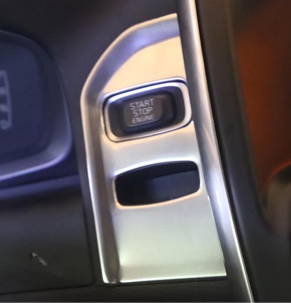 1 pc Para Volvo XC60 XC70 2009-2016 Painel de Aço Inoxidável Keyhole Tampa Do Quadro Do Painel Guarnição Anel Chave Decoração Lantejoula Acessórios