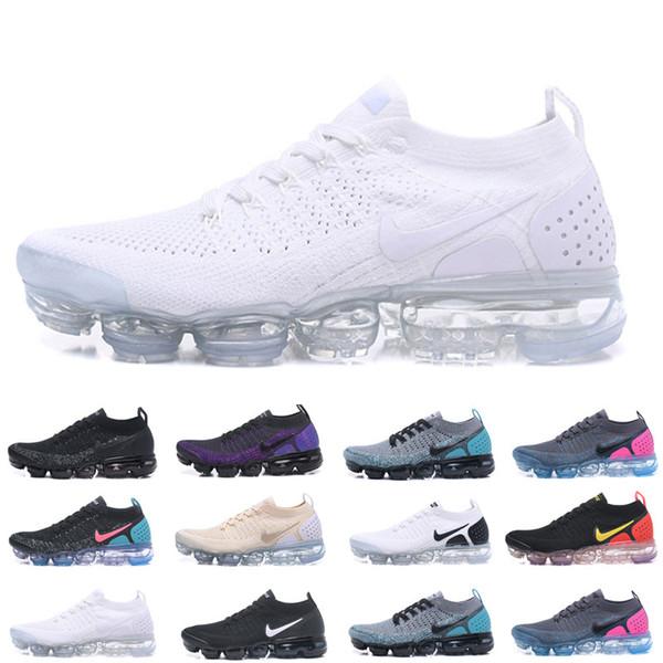 top popular 2019 Knit 2.0 Fly 1.0 Running Shoes Men Women BHM Red Orbit Metallic Gold Triple Black Designer Shoes Sneakers Trainers 36-45 2020