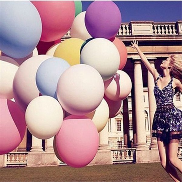 10 stücke 36 zoll mischungsfarbe macaron latex luftballons hochzeit geburtstag party dekoration big air helium dicken luftballons perfekte kreis