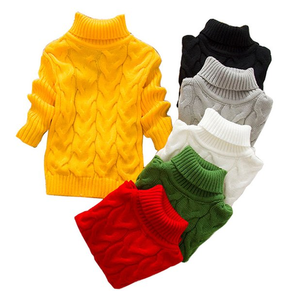 best selling Autumn Baby Boys Girls Sweaters Kids Sweater Solid Knit Sweater Causal Toddler Girl Winter Clothes Boys Sweaters Tops