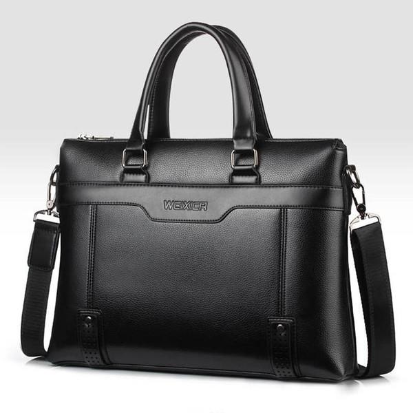 Men's Briefcase Laptop Man Handbag Bag Business Luxury Shoulder Briefcases PU Leather Handbags for Man Waterproof Briefcase Bags #581652