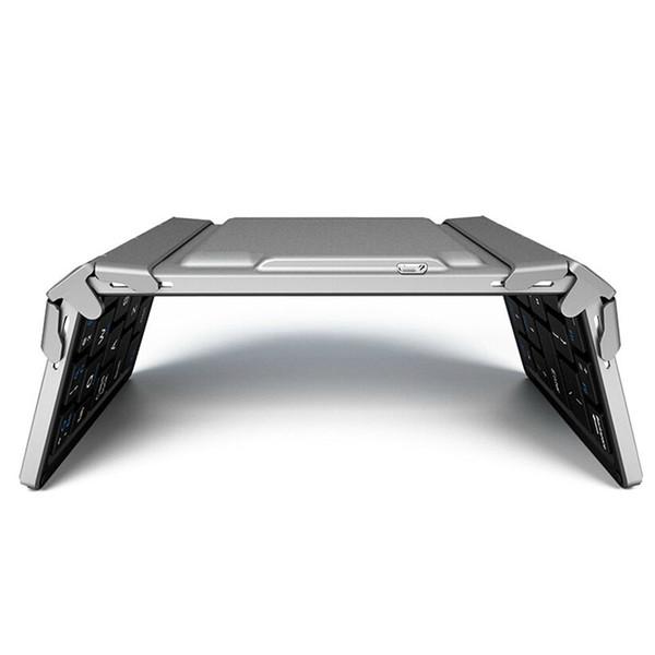 Trois fois pliable multi-système universel Portable Clavier sans fil en alliage d'aluminium pliable Mini Slim clavier pour / Android