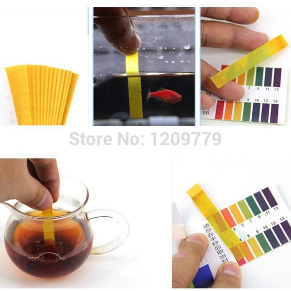 best selling Wholesale-free shipping 160 Strips Full Range pH Alkaline Acid 1-14 Test Paper Water Litmus Testing Kit IB009 P