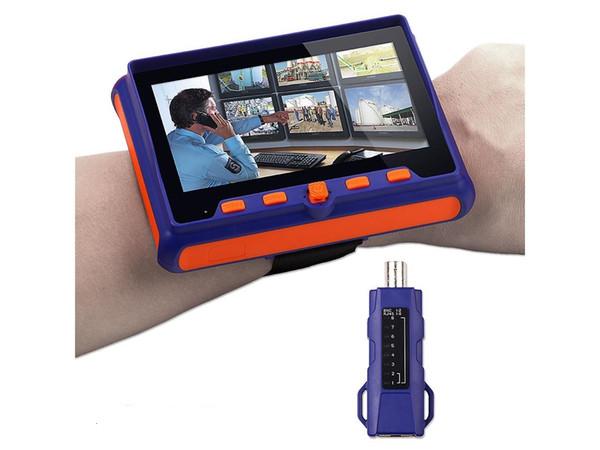 "CCTV Camera Tester 5"" LCD Monitor Analog AHD TVI CVI VGA Video Audio PTZ RS485 Test Portable Wrist Tester Tool"