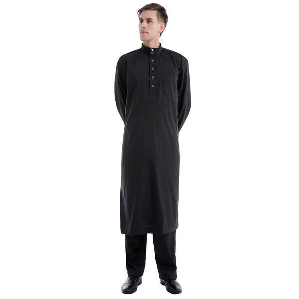 2019 Neue Ankunft Arabisch Abaya Muslim Dubai Kaftan Mit Langen Ärmeln Gebetskleid Pakistan Männer Kleidung Mar15