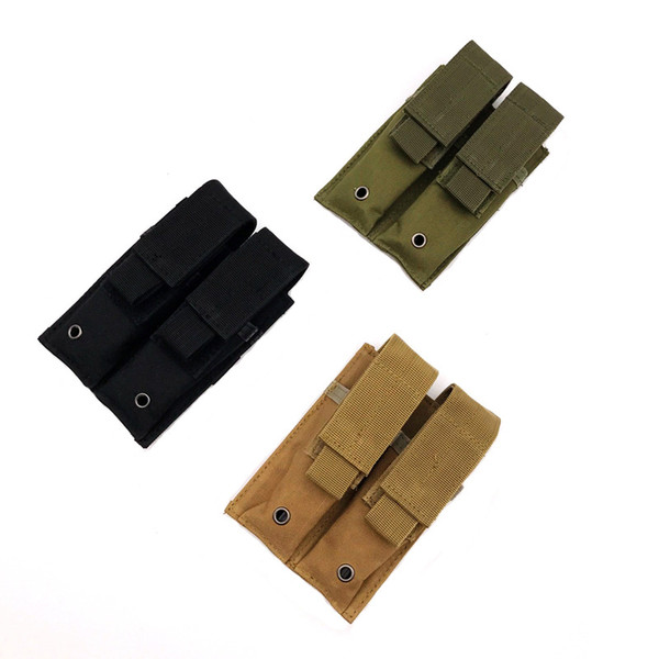 New Outdoor Combat Hunting600D Nylon Double Magazine Pouch Close Holster