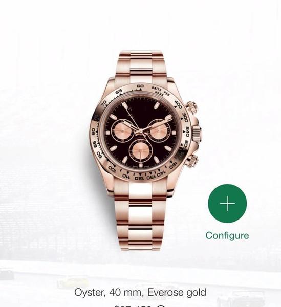 232 6 Sty Haute Qualité Watch Classic Series 40mm Cosmograph LN mécaniques automatiques Montres Hommes