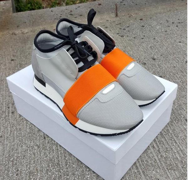 2019 Chaussures Мода Luxury Designer Shoes Race Paris Кроссовки Белое Черное Платье De Luxe Кроссовки Мужчины Женщины Повседневная Обувь eur36-46
