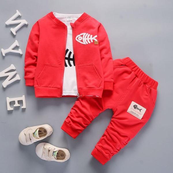 Bebek Erkek Ve Kız Takım Elbise Marka Eşofman Çocuklar Giyim Seti Sıcak Satmak Moda İlkbahar Sonbahar Uzun Kollu Giysi üç parçalı ...