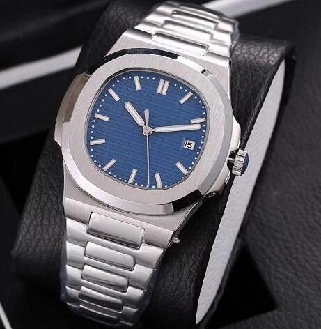 2019 Top Nautilus Watch Hommes Montres Automatiques Montres Argent Bracelet Bleu Acier Inoxydable Mécanique Hommes Orologio di Lusso Montres Livraison gratuite