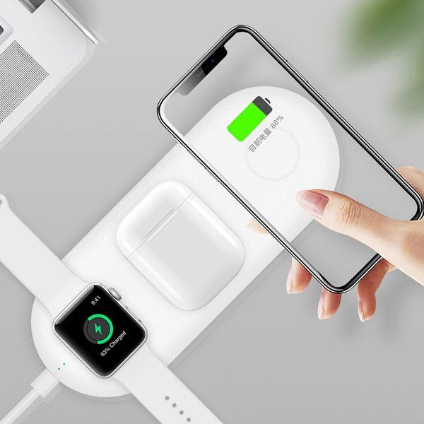 Qi sem fio carregador base airpower mat para iphone x 8 plus xr xs max airpods apple watch 3 2 4 sem fio rápido almofada de carregamento s8 s9