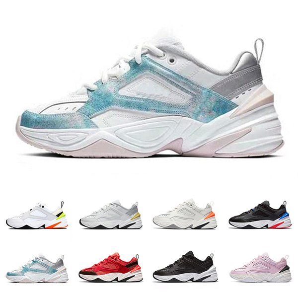 NMTK1A Air Monarch M2K Tekno Trainers Designer Old Dad Shoes Foam Zapatillas Top Quality Pink Black White Men Women Classic Sneakers Athleti