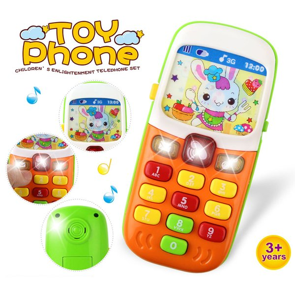 Electronic Toy Phone For Kids Baby Mobile Phone Educational Learning Toys Music Sound Machine Toy For Children (Color Randomly)#