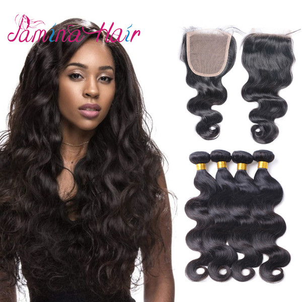 High Quality Unprocessed Hair Body Wave Weave Hairstyles Brazilian Hair Bundle Deals With Closure Brazillian Body Wave Human Hair Weave Human Hair