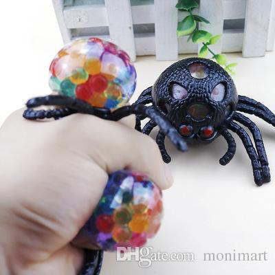 Anti Stress Spider Grape Ball TPR Squeeze Toy Halloween Toy Decompression Tricky Toys for Adult and Kids