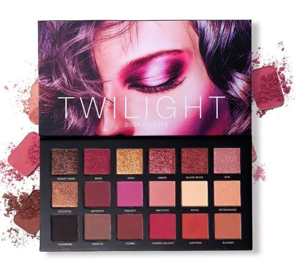 free ePacket UCANBE Professional 18 Pigmented Eye shadow, 10 Matte + 8 Shimmer, Velvet Texture Mischbare, langlebige Lidschatten-Palette
