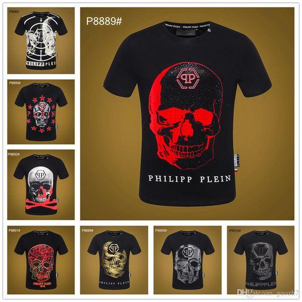 19SS lustiges Mannt-shirt Schädeldruck Hip-Hop-T-Shirt Mannstraßenabnutzungsmännent-shirts Qualitäts-Übermaßmann-Amerika-Kleidung