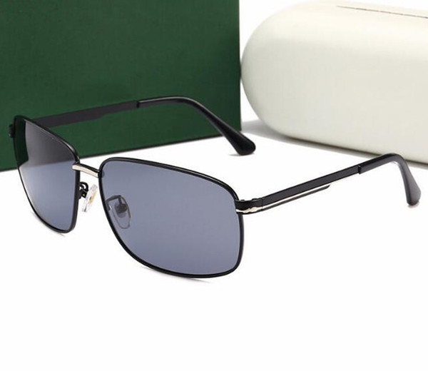 Con caja de empaquetado moda de lujo, nuevas gafas de sol polarizadas UV400 para hombres, espacio Retro, aluminio, magnesio, caja pequeña, conductor, conducción, pesca, sungl