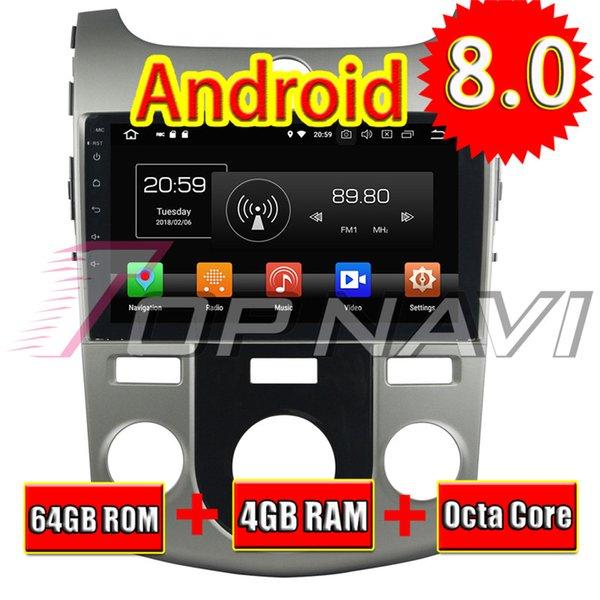 Topnavi 9 '' Android 8.0 Reproductor de CD multimedia para coche para KIA CERATO FORTE 2008 2009 2010 2011 2012 Navegación GPS automotriz SIN DVD