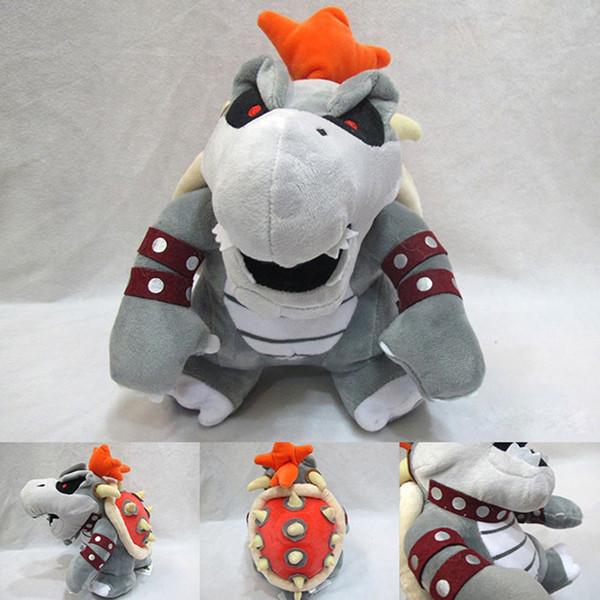 Super Mario Peluche Jouets dragon de feu d'os gris bowser Koopa animaux en peluche jouet cadeau enfants peluche de DHL Livraison gratuite