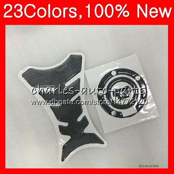 .3D Protezione per cuscinetti serbatoio in fibra di carbonio per YAMAHA YZFR1 10 11 12 YZF R1 YZF 1000 YZF1000 YZF-R1 2010 2011 2012 CL82 Tappi serbatoio adesivi