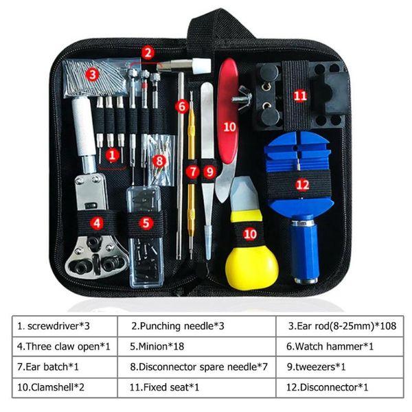 Montre outil de kit de réparation montre lien Pin Remover Ouvre cas Spring Bar Remover Horlogemaker Gereedschap Kit de réparation d'outils
