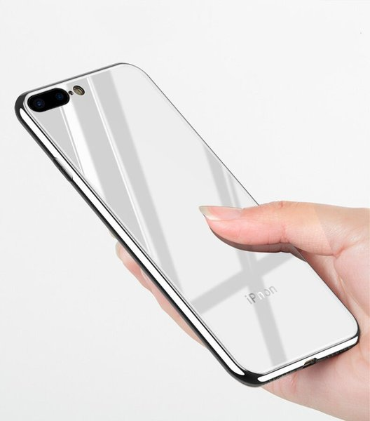 HOT iPhone XS Tempered glass Plating shell Apple 7/8S Mobile phone case 7plus shatter-resistant shell