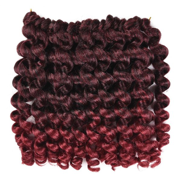 Ombre Braiding Hair Jumpy Wand Curl Crochet Braids Jamaican Bounce 8 inch Synthetic Crochet Hair Extension for Women