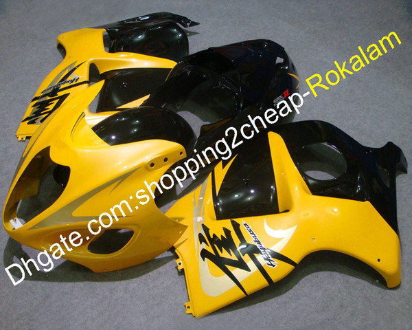 Customized Fairing For Suzuki Parts GSXR Fairing GSX-R 1300 1999-2007 GSXR1300 Hayabusa ABS Yellow Black Fairings Kit (Injection molding)