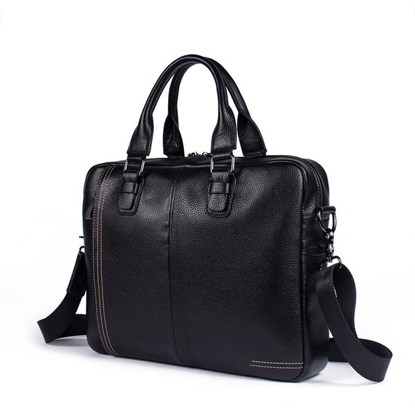 Fashion Travel Bags Briefcase Laptop Bag Cow Leather Multifunction Waterproof Handbags Business Portfolios Man Shoulder Bags