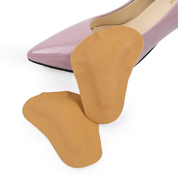 Leather Arch Supports Forefoot Pads for Women High Heels Sandals Insert Half Yard Pad Massage Foot Care Shoes Insoles