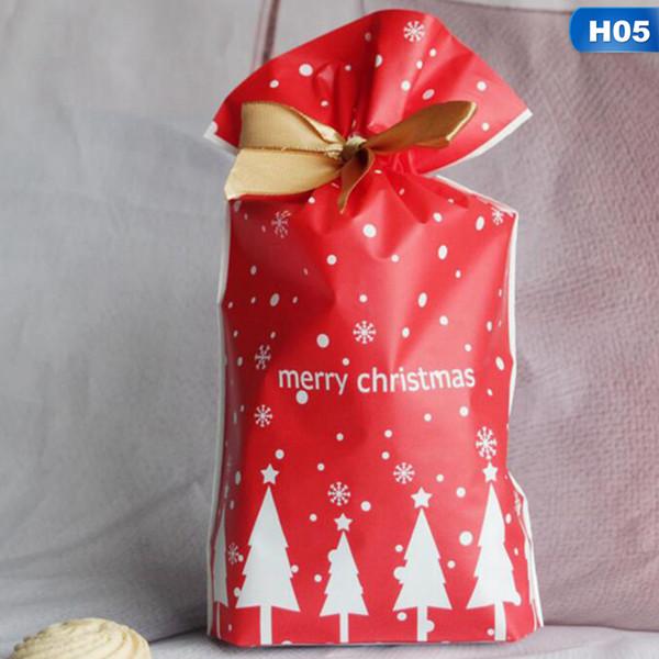 Presente 10pcs Feliz Natal malas Árvore de Natal Papai Noel sacos de embalagem Feliz Ano Novo Natal dos doces Navidad