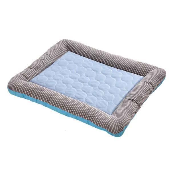 Собака Mat Горячей Продажа Питомник Summer Pet Pad Ice Шелкового холодный Feel Pad Cat Помет Cat Mat Dog House Bed Матс