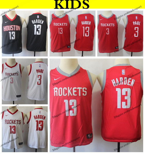 new concept 5e93f f4f2a 2019 2019 Kids #13 Houston Chris Paul James Harden Rockets Basketball  Jerseys Youth Chris Paul James Harden Stitched Shirts S XL From  Redtradesport, ...