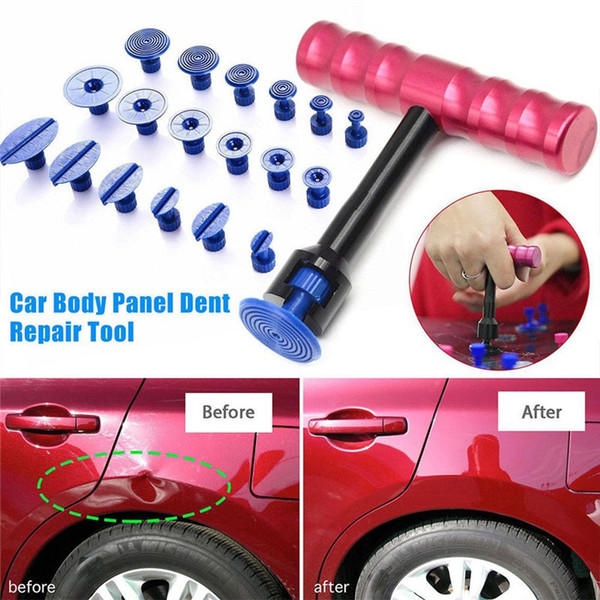 best selling 19Pcs Car Dent Removal Tools Kit Car Body Panel Puller Professional Removal Repair Panel Tool Auto Moto Damage Repair Tools HHA287