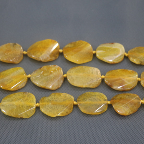 25-45mm 9pcs Large Stone Slab Slice Beaded, Natural Druzy Faceted Stone Beads Gems Stone Connector Pendant, 15.5inch Strand