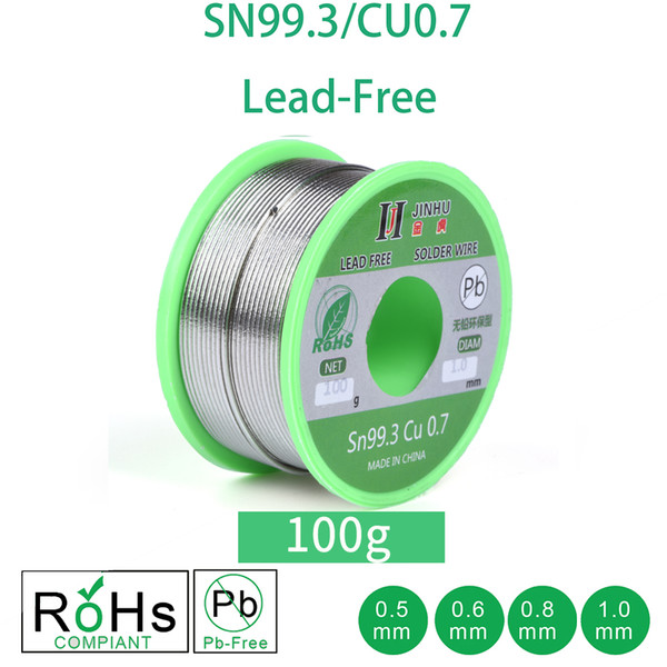 Cheap Welding Wires 100g Lead-free Solder Wire 0.5-1.0mm Unleaded Lead Free Rosin Core for Electrical Solder RoHs