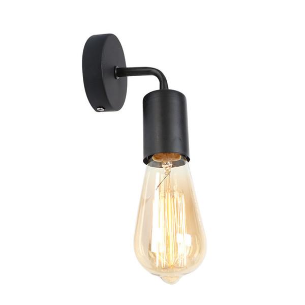Acheter Simple Moderne Applique En Métal LED E27 Vintage Applique Or 5  Couleurs Pour Chambre Bureau Couloir Couloir Salle De Bains Salon Bar  Éclairage ...