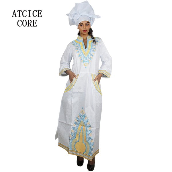 african dresses for woman bazin riche embroidery design long dress A179