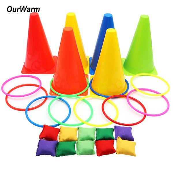 DIY Decorations OurWarm 1set Birthday Party Outdoor Ring Toss Games Gift for Kids Party Supplies Carnival Games Children's Day