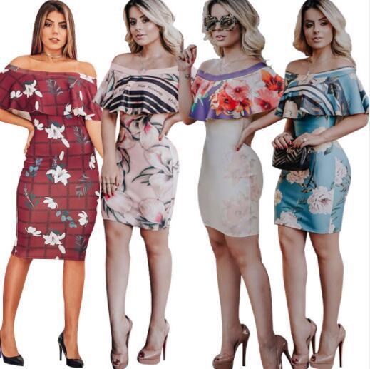 Abiti firmati di estate per le donne Abiti sexy Moda Lady Gonne Marca Beach Abiti Abbigliamento 5 stili S-XL all'ingrosso