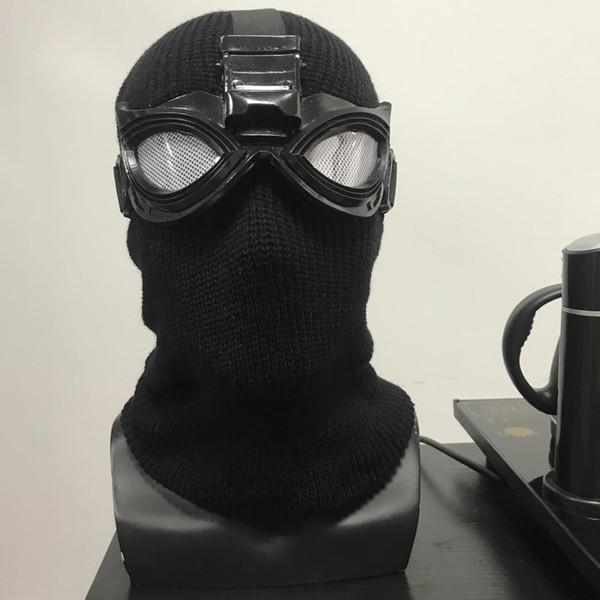 Spider-Man: Far From Home Black Mask Cosplay Accessori Halloween Spider-Man Noir Mask Cosplay Spider Man cappello maschera nera
