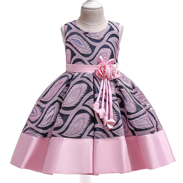 New children's dress skirt tutu princess dress with ears eyes beads upper body lotus leaf sleeves rainbow skirt