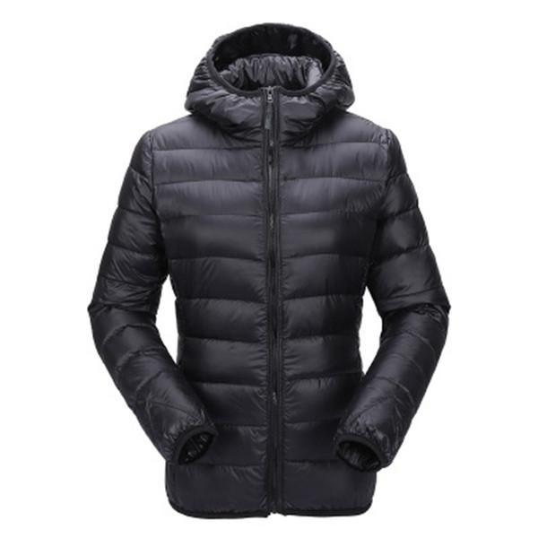 Zogaa Mulheres Ultra Leve Para Baixo Casaco Com Capuz Casaco de Inverno Slim Fit Sólida Casaco Com Zíper Outono Inverno Mulheres Jaqueta Parka Outwear