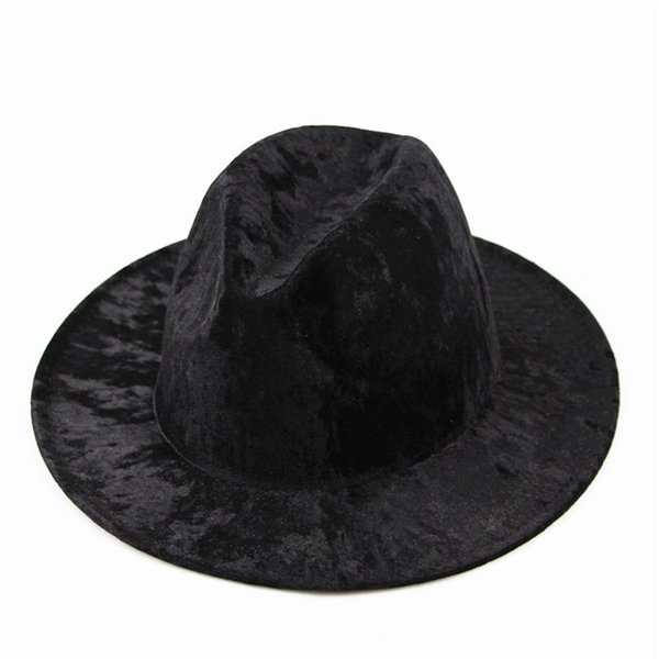2018 cotton solid brimmed hat Travel cap Fedoras jazz hat Panama hats for women and girl 10